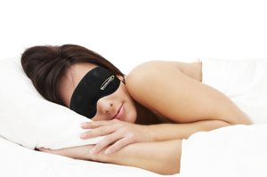 Girl with Sleep Mask