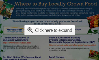 wher eto buy locally grown food