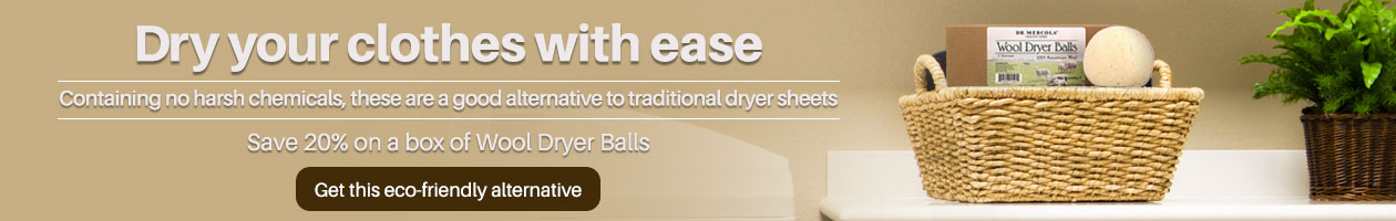 Save 20% on a Box                                                  of Wool Dryer Balls