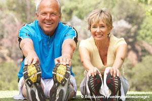 Seniors Exercising in Park