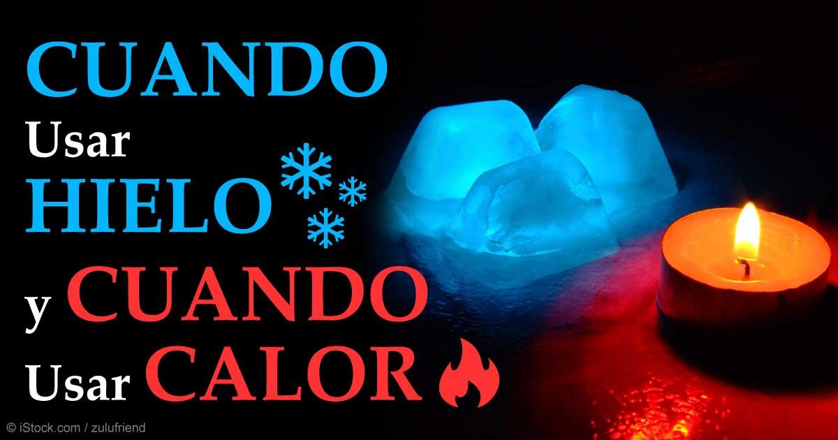 calor o hielo debido a la tensión en la ingle
