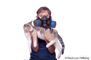 Niño con Alergia a los Gatos