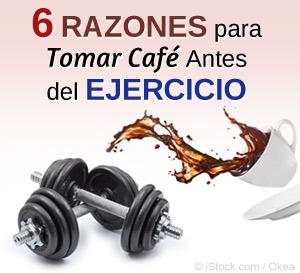 café antes del ejercicio
