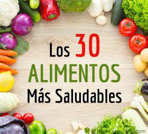 los 30 alimentos mas saludables