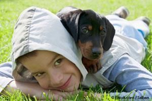 Niños Camping con Perros