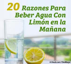 razones para beber agua con limon