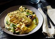 Quick Fish Curry with Roasted Cauliflower and Okra Recipe