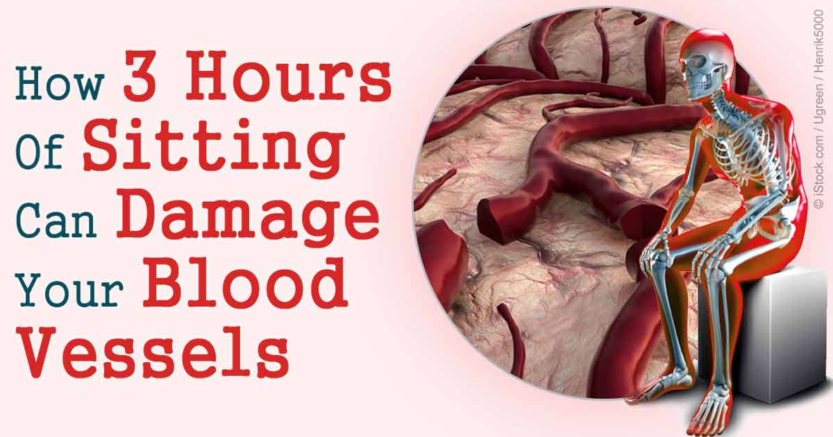 Excessive Sitting Can Damage Your Blood Vessels