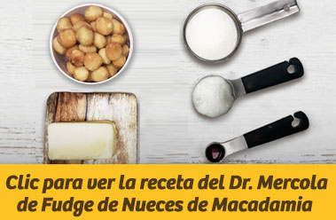 Clic para ver la receta del Dr. Mercola de Fudge de Nueces de Macadamia