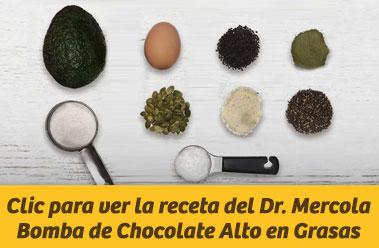 Clic para ver la receta del Dr. Mercola Bomba de Chocolate Alto en Grasas