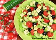 cucumber avocado caprese salad