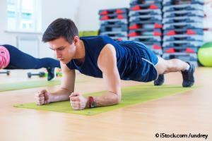 regular exercising planking