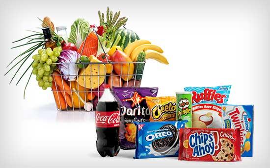 Kaufen Sie mehr Vollwertkost als zuckerhaltige Nahrungsmittel