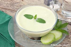 chilled creamy cucumber soup
