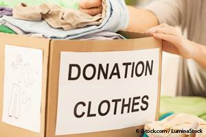 used clothing donation