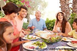 Les repas en famille