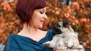 baby talk to puppy