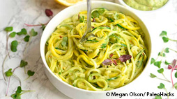 Zingy Zucchini Noodles With Creamy Avocado Pesto Recipe