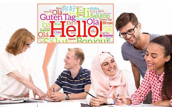 외국어를 배우는 성인들