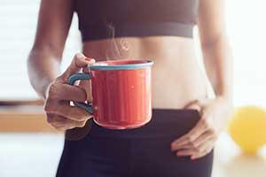 운동 전 커피