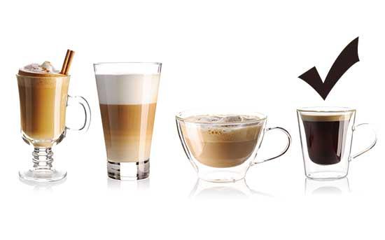 escolha o café preto