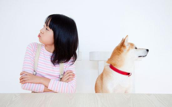 개와 빈정이 상한 소녀