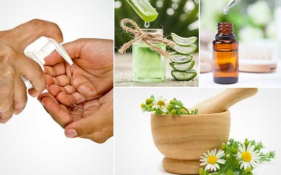 Натуральное средство для дезинфекции рук