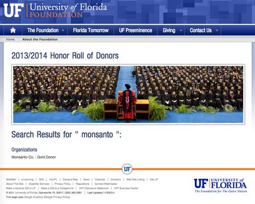 uf search results monsanto