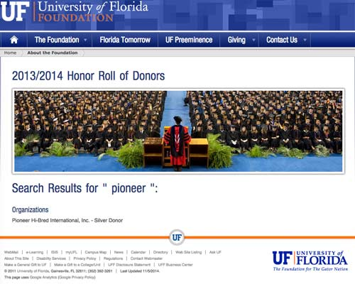 uf search results pioneer