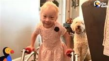 Faithful Dog Is a Great Motivator for Little Girl