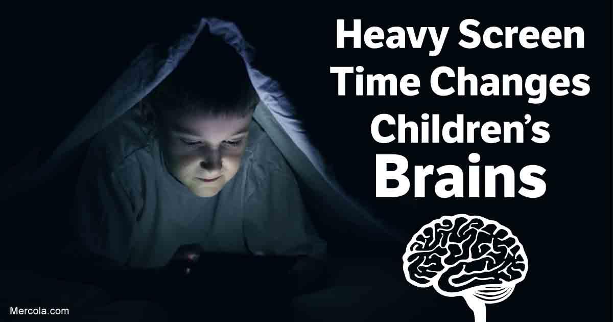 Heavy Screen Time Changes Children's Brains