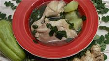 Chicken Soup with Ginger and Moringa