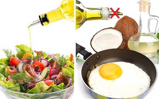 使用椰子油来替代橄榄油烹饪热食