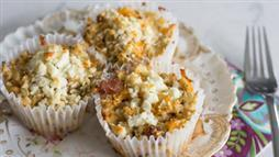 Low Carb Bacon and Cheese Cauliflower Muffins
