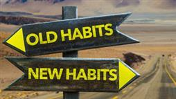 old habits new habits signpost