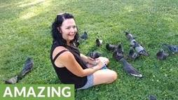 Is She 'the Pigeon Whisperer' or Did She Just Bring Snacks?