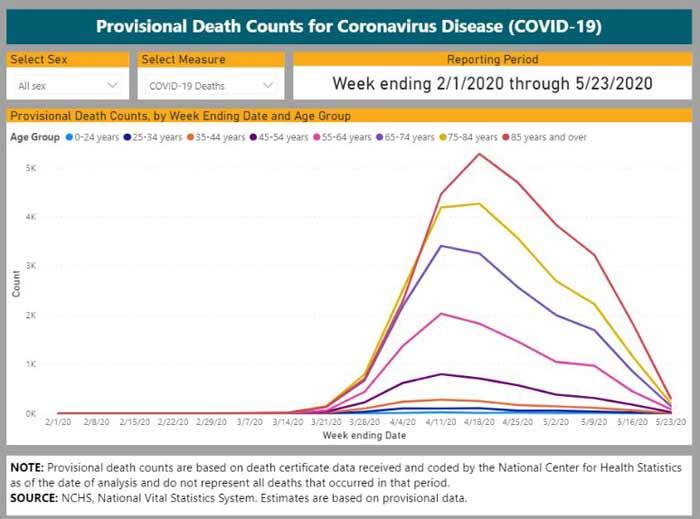 COVID-19 provisional death counts