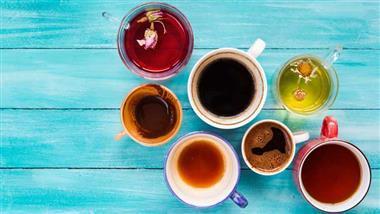 drinking tea and coffee