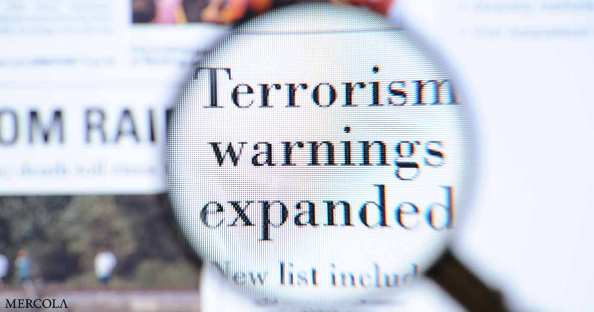 COVID Noncompliance Now Labeled Top 'Terror Threat'