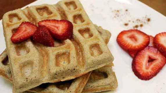 Waffles sem glúten