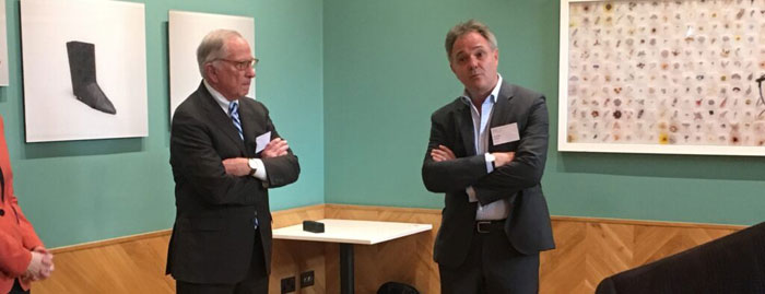 Wellcome Trust Director Jeremy Farrar with NTI Co-Chairman Sam Nunn