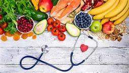 healthy fruits, vegetables and omega-3 foods
