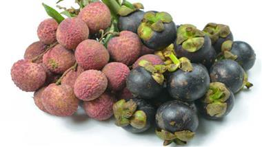 lychees and mangosteen