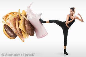 fit woman vs. fast food