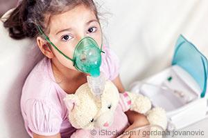 girl with inhaler mask