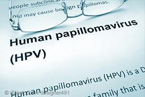 HPV written on paper