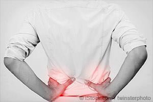 woman in kidney stone pain