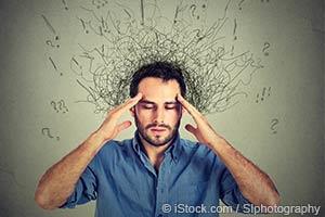 man overthinking