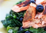 Coconut Kale with Sesame-Crusted Salmon Recipe