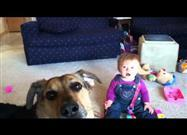Baby Busts Up When Pup Busts Bubbles!